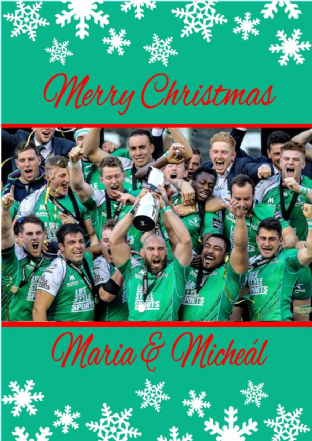 Personalised Connaught Rugby Christmas Card